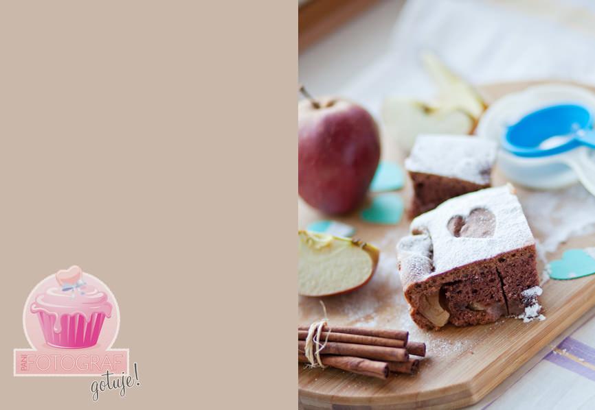 zdjęcia kulinarne, ciasto z jabłkami