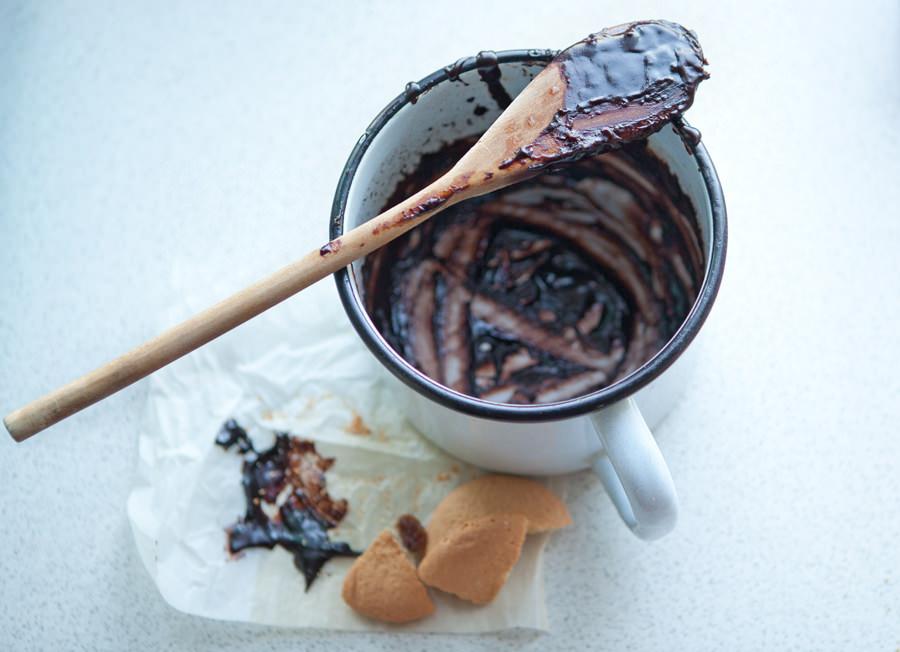 food styling, fotografia polewy czekoladowej