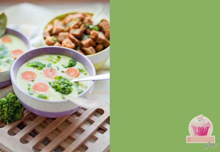 zupa brokułowa z grankami, zdjęcia