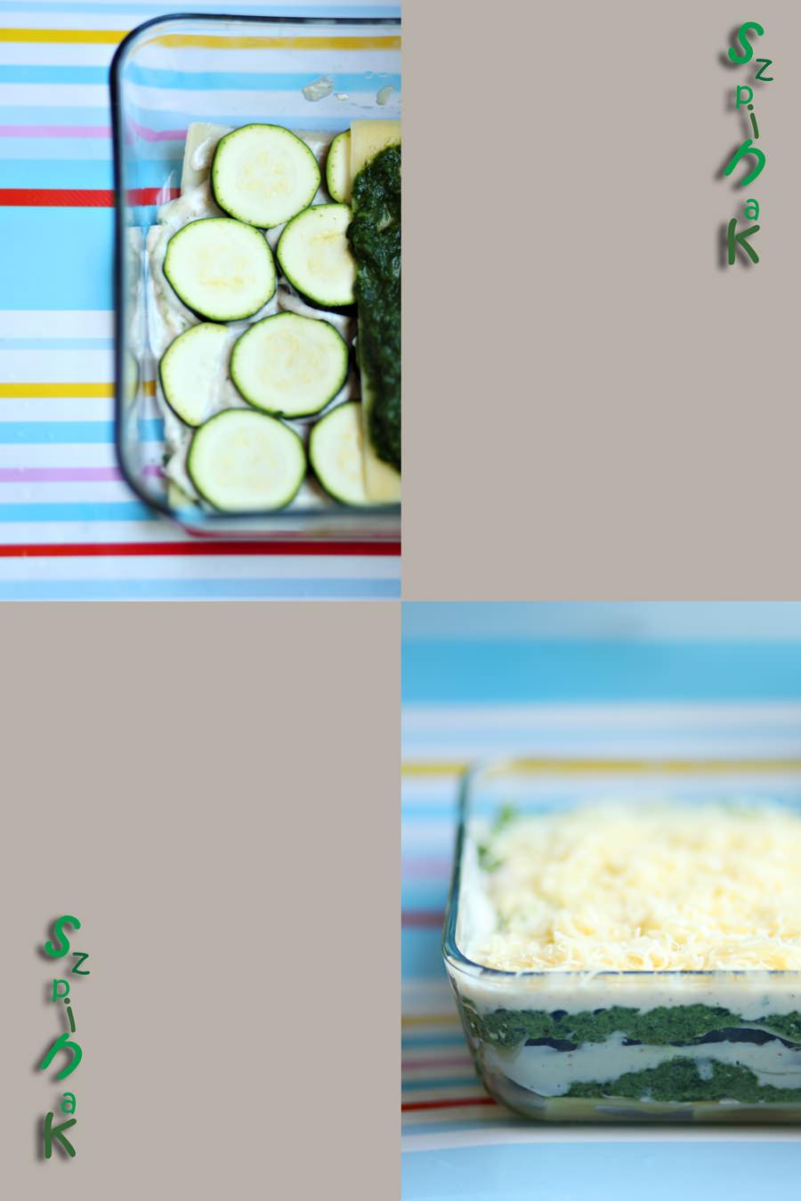 lasagne ze szpinakiem fotografia kulinarna