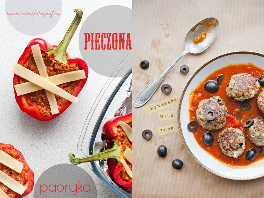 zdjęcia jedzenia pieczona papryka