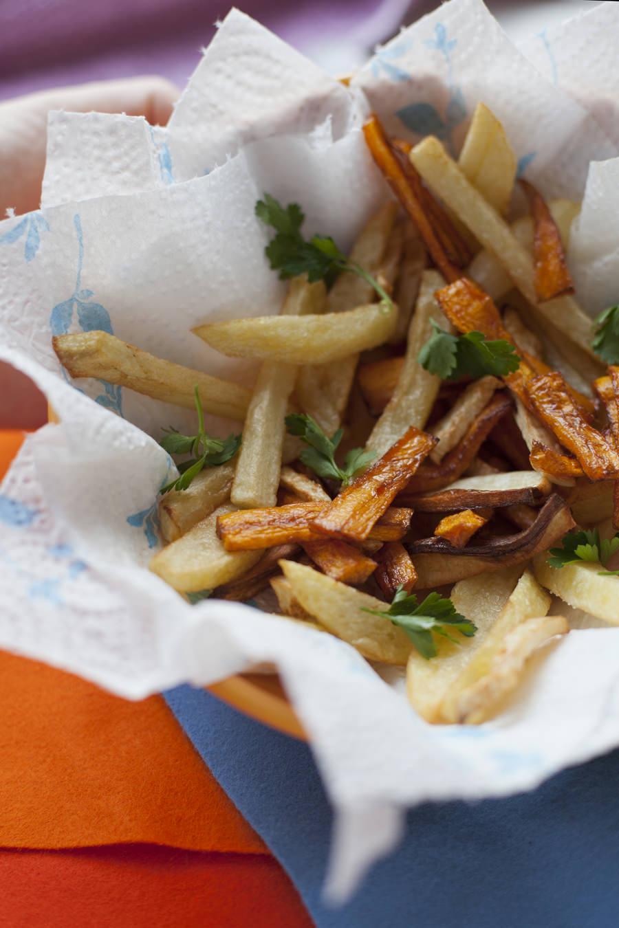frytki z marchewki zdjęcia