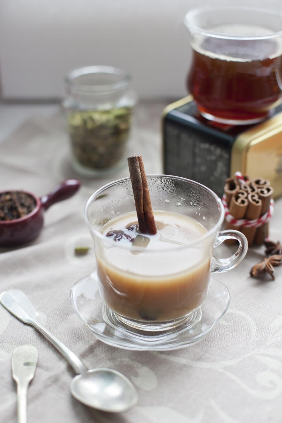 herbata z mlekiem przepis