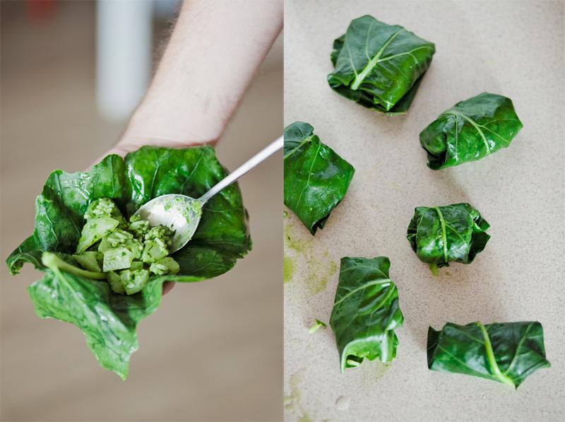 gołąbki z liści kalarepy