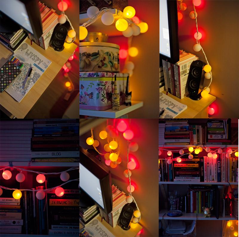 lampki z piłeczek pingpongowych