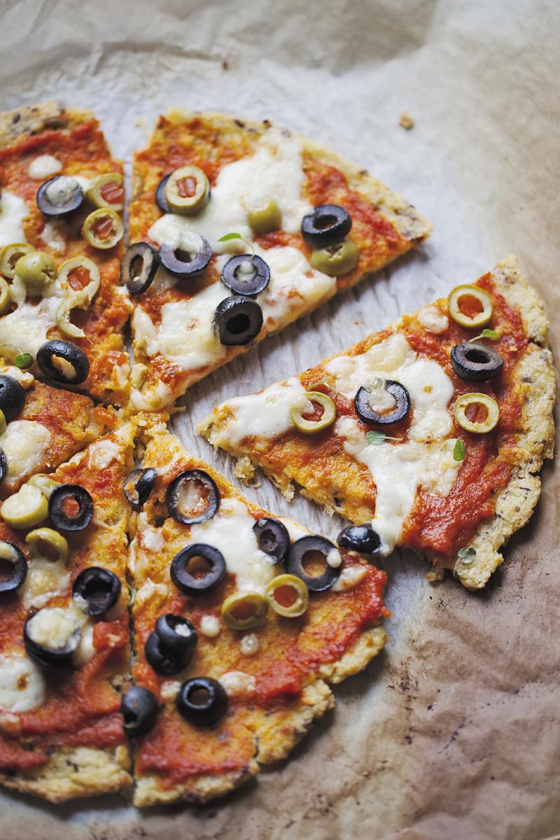 pizza z kaszy jaglanej