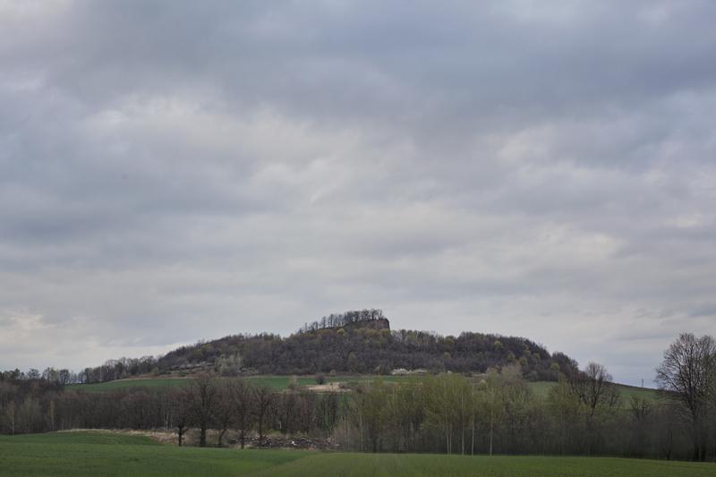 widok na Wilczą Górę koło Złotoryi