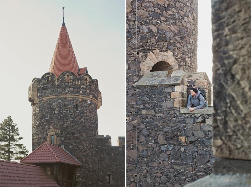 na wieży zamku grodziec