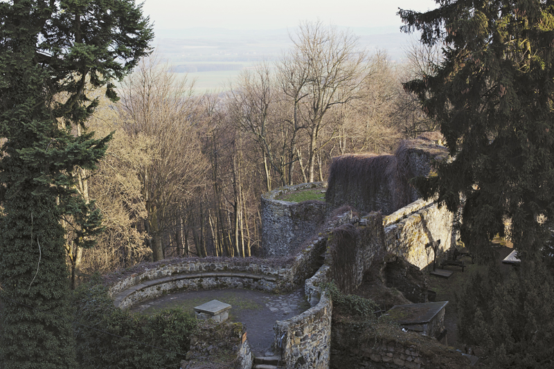 widok z zamku grodziec