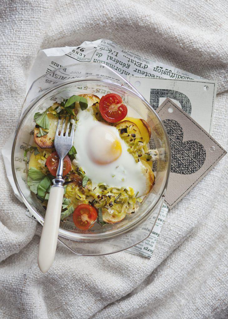zapiekanka z jajkiem